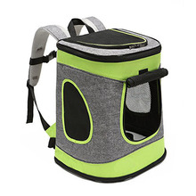 "Green Comfortable Dog Carriers/BackpackHold Pets up to 15 LBS Go for Walk Hiking and Cycling 17""H x13""L x11""D"