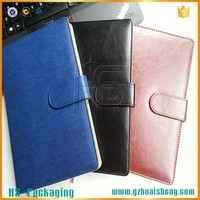 custom Logo a5 pu leather notebook cover with magnetic lock
