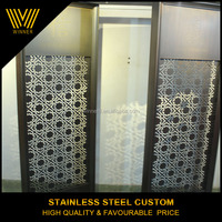 Antique design custom stainless steel folding screen,metal room divider