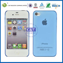 C&T Clear Crystal Slim Ulera Thin Hard Back Case Cover for iphone 4s case wholesaler