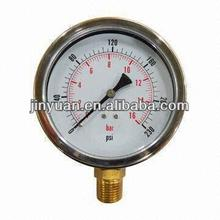 Pressure gauge bourdon type