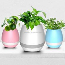 Artificial flower led light up planter music control LED color change light flower lit pot for decking