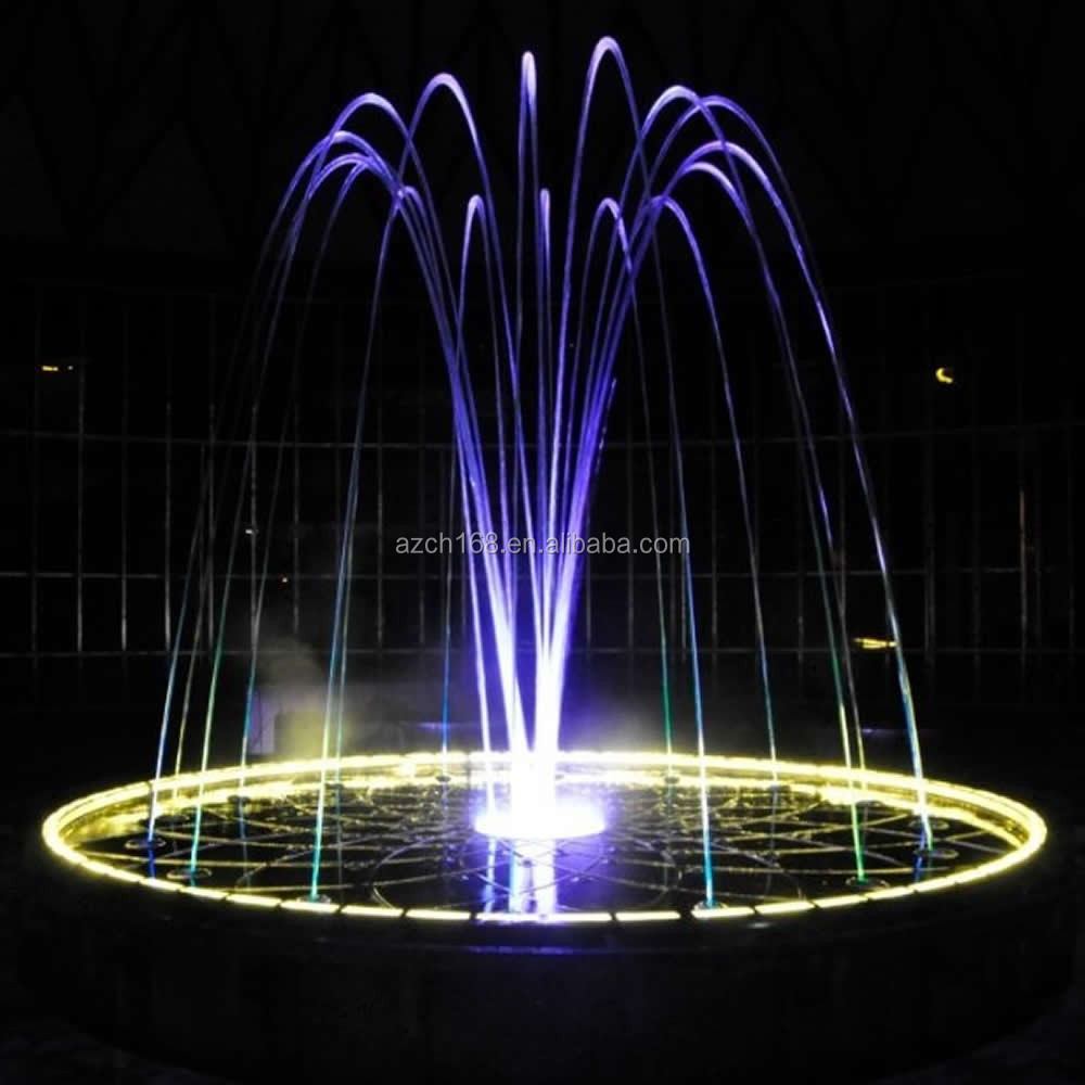 Decorative Jumping Laminar Jet Fountain With The Naked Jumping Jet Fountain Nozzle