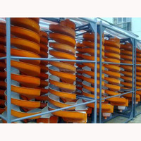 Spiral chute washing and cleaning equipment for gold ore mining plant
