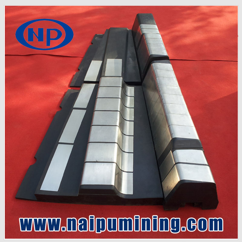 Mill anti corrosion rubber and alloy Lining board