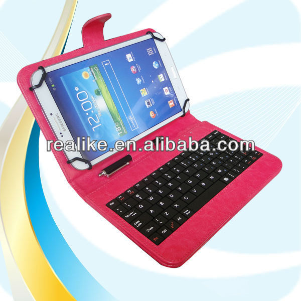 Hot selling bluetooth keyboard case for galaxy tab 3 8.0,strong magnetic case for 8.0 inch tablet pc with pen clip