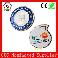 custom shape metal badge round badge with pin (HH-badge-631)