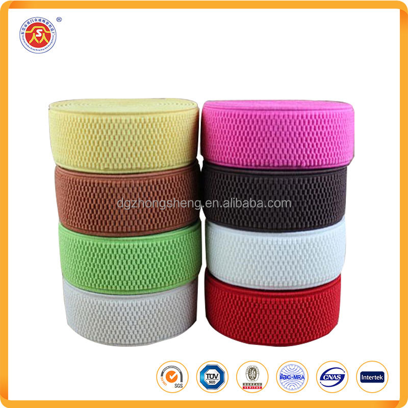 Good quality Custom colorful elongation hard foldover gripper elastic band