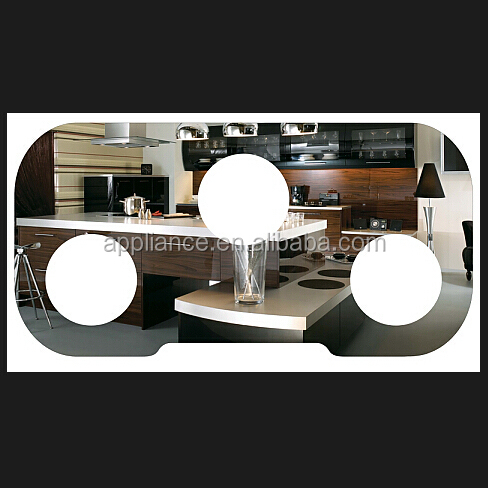 A modern kitchen 3D picture in Tempered Glass For Home Appliance