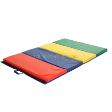 "New Mixed 4'x8'x2"" Thick Folding Panel Gymnastics Mat Gym Fitness Exercise Mat"