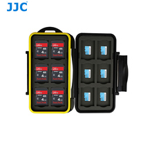 JJC Waterproof Storage Memory Card Case Protector Holder for 12 SD cards 12 MSD cards