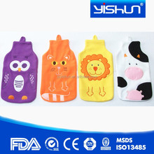 new Fashion cheap BS standard 750ml PVC hot water bottle/hot water bag with cover