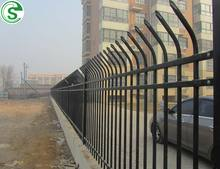 Customized metal picket fence modern high security iron tubular fencing