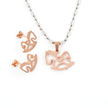 Yiwu Aceon Stainless Steel Simple Design Rose Gold Horse Design german stainless steel jewelry