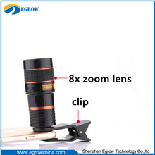 hot universal 8x zoom mobile phone telescope camera lens