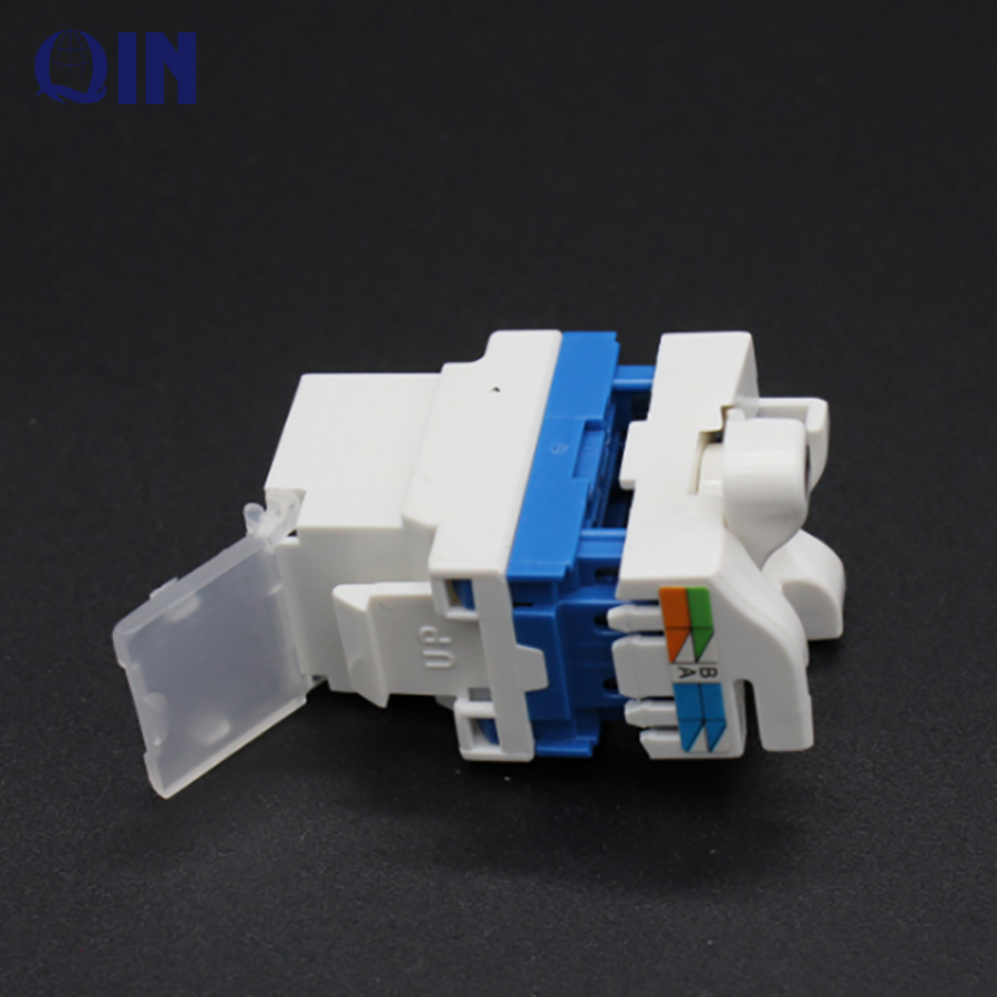 Top quality rotary type 180 degree UTP tooless Cat6 RJ45 keystone jack price