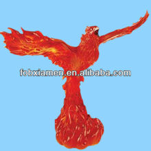 2013 Hot red custom polyresin phoenix statue