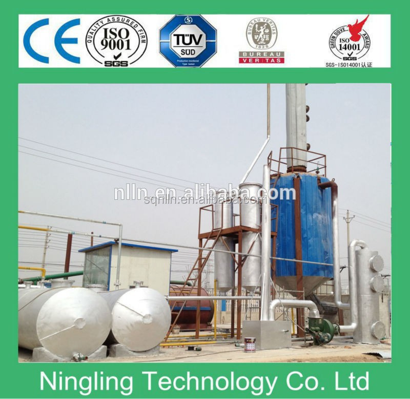 Full continuous green non-pollution black engine oil recycling machine to diesel oil