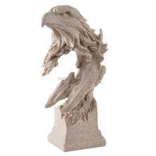 resin eagle head craft sculpture for garden decoration business gift 13063