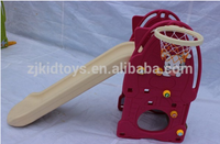 high quality indoor plastic slide and swing set for kids