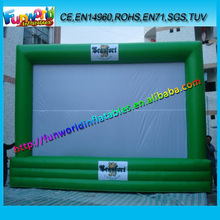 Green Giant Inflatable Advertising Moive Screen,Outdoor Inflatable Banners