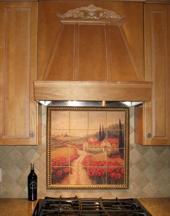 Tile Mural, Kitchen Backsplash,Outdoor tile mural
