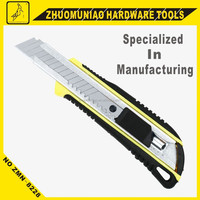 Box Cutter ABS+TPR Handle Auto-loading Blade Knife Easy Cutting