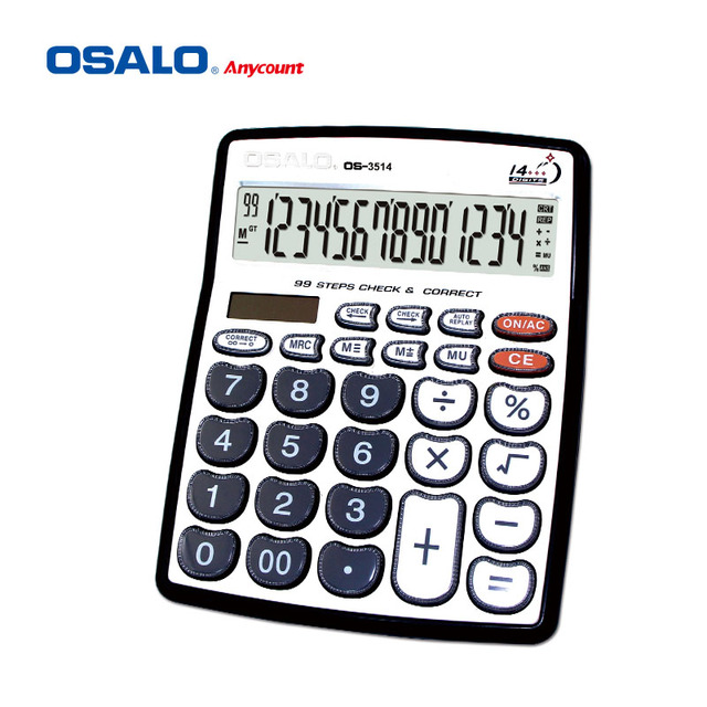 14 digits heart shape button check correct calculator os-3514