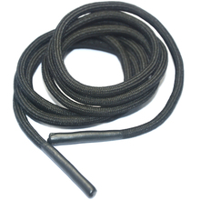 Black silicone ends round polyester drawcord for shoelace and hoodie cord