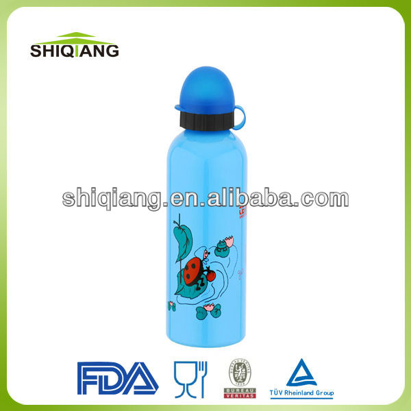 500ml promotion sport aluminium water bottles with round straw plastic lid D