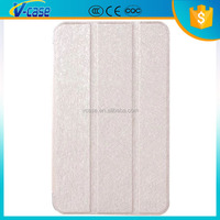Newest matte transparent backside tablet leather case for lenovo a3500-hv