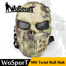 Funny tactical CS protection party full face halloween mask with skull design