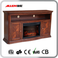 decorative TV Stand with fireplace and cabinets