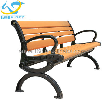 Outdoor park bench wood plastic composite patio garden benches