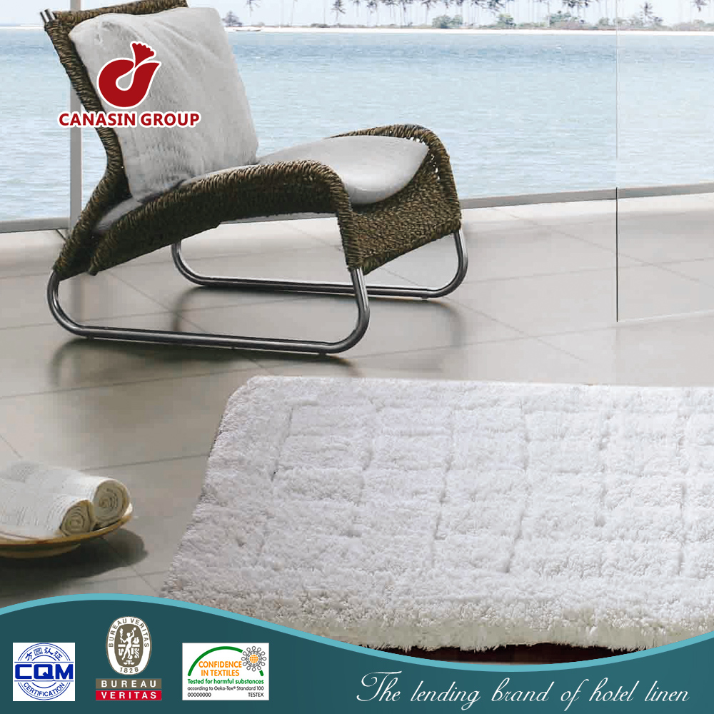 Bedside Absorbent Bath Rug Without Rubber Backing