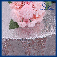 SN021C Custom made beaded glitter decoration cocktail silver sequin table cloths