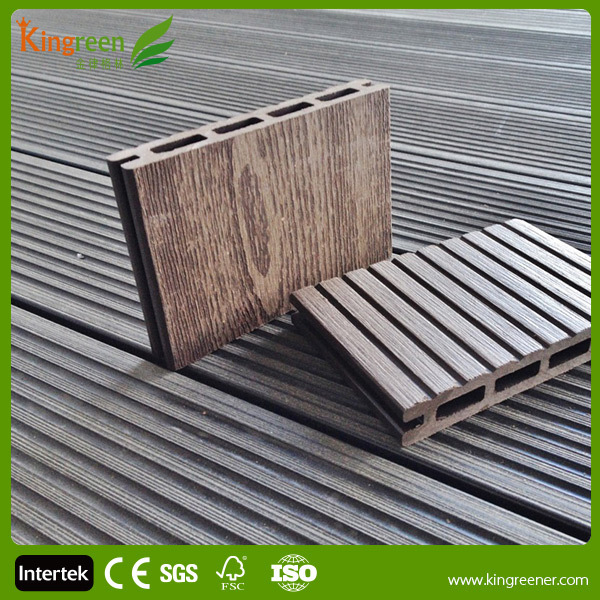 Non Slip Composite Decking Tiles Recycled Waterproof Wood
