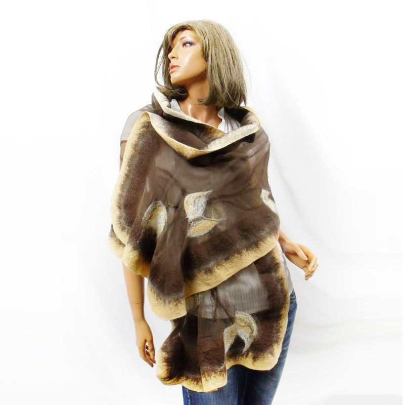 Felting Fashion Natural Silk and Australian Merino Wool