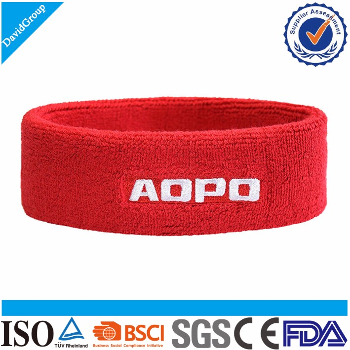 Small MOQ Promotional Custom Cotton Sweat Headband & Sport Sweat Head Band & Sports cotton Headband