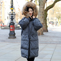 CX-G-A-106B Elegant Style Real Raccoon Fur hood Women's Winter Down Coat