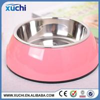 Hot selling dog printed stainless steel pet bowl with high quality