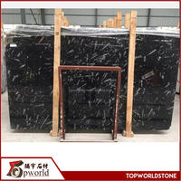 Black ocean jura marble black fossil marble for high-end project