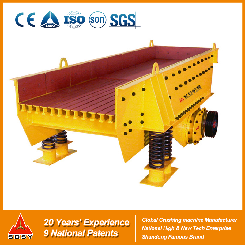 Vibrating feeder for mining material,vibrating feeder for separating the raw materials