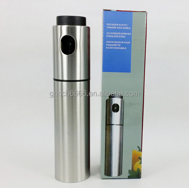Stainless steel barbecue cooking oil spray bottle,Olive oil mist spray bottle, oil and vinegar pump spray