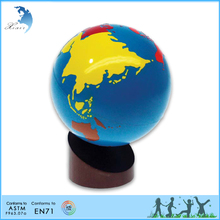 Training aid Montessori Geography wooden Educational Globe