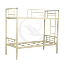 Knock down iron bed metal folded army double bunk bed