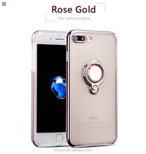 360 Shockproof good quality popular selling Laser carving ring stand electroplate tpu case for samsung A3 2017 A5 2017 A7 2017