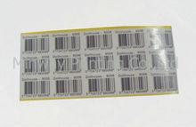 Custom design bar code label/ sticker self adhesive at the cheapest price