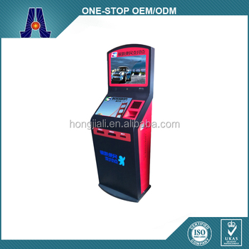 cash and coin accept betting terminal kiosk for gambling kiosk lottery terminal (HJL-3315B)