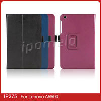 Luxury tablet cover case for Lenovo A5500 with several colors china alibaba
